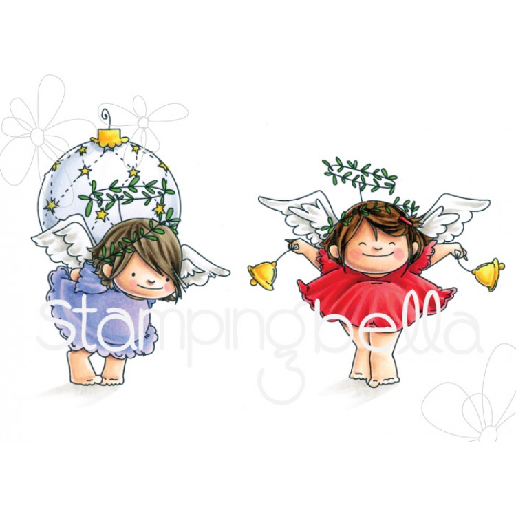 Stamping Bella - ANGEL SQUIDGIES BELLS and ORNAMENT SET