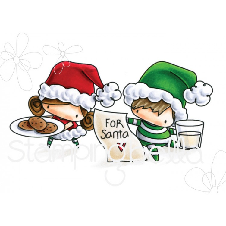 *PRE-ORDER* - Stamping Bella - The littles CHRISTMAS COLLECTION: WAITING FOR SANTA