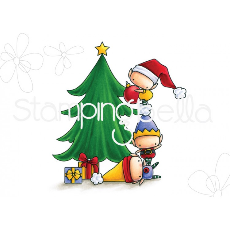 *PRE-ORDER* - Stamping Bella - the littles CHRISTMAS COLLECTIONL:  Elves TRIMMING THE TREE