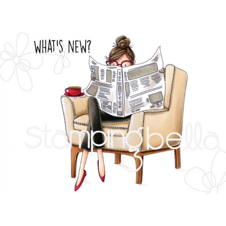 *PRE-ORDER - Stamping Bella - Uptown girl Nancy reads the newspaper
