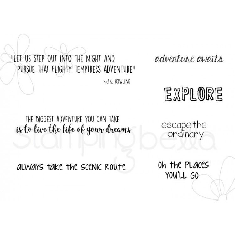 Stamping Bella - Adventure sentiment set