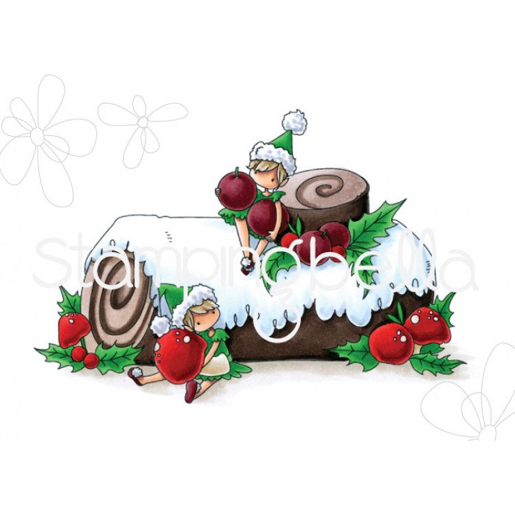Stamping Bella - TEENY TINY TOWNIE ON A YULE LOG