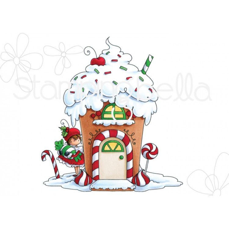 Stamping Bella - TEENY TINY TOWNIE GINGERBREAD HOUSE