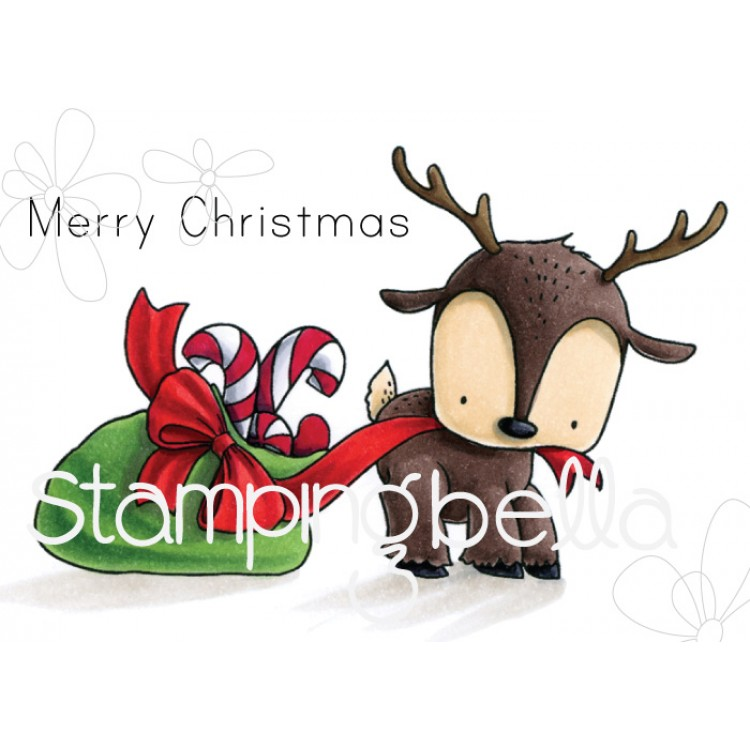 Stamping Bella - REINDEER WITH A GIFT STUFFIE