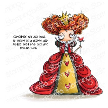 Stamping Bella - ODDBALL QUEEN OF HEARTS rubber stamp