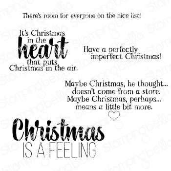 *NEW* - Stamping Bella - CHRISTMAS SENTIMENT SET RUBBER STAMPS