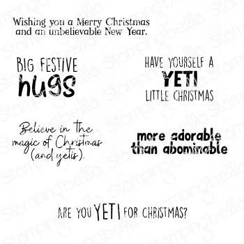 *NEW* - Stamping Bella - YETI SENTIMENT SET RUBBER STAMP