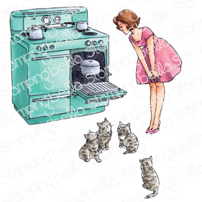 Stamping Bella - EDGAR AND MOLLY VINTAGE HERE KITTY SET