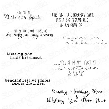 *NEW* - Stamping Bella - LONG DISTANCE CHRISTMAS SENTIMENT SET