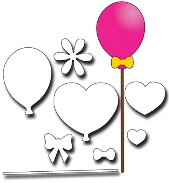 Elizabeth Craft Designs - Balloons
