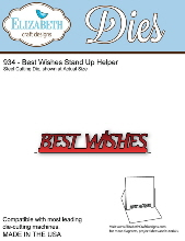 Elizabeth Craft Designs - Best Wishes Stand Up Helper