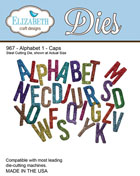 Elizabeth Craft Designs - Alphabet 1 - Caps