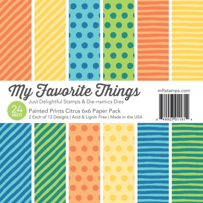 My Favorite Things - Citrus 6 x 6 Painted Prints Paper Pack