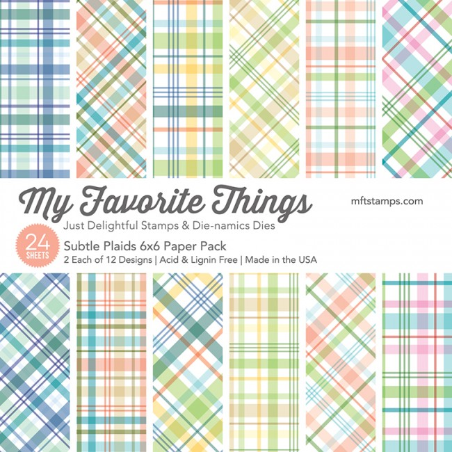 My Favorite Things - Subtle Plaids 6 x 6 Paper Pack