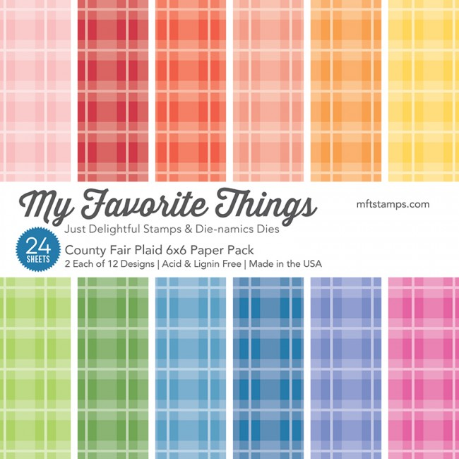 My Favorite Things - County Fair Plaid 6 x 6 Paper Pack