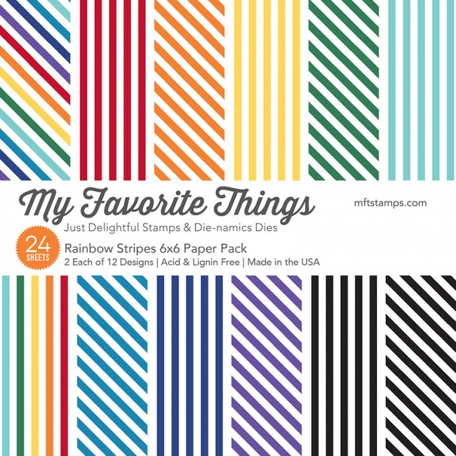 My Favorite Things - Rainbow Stripes 6 x 6 Paper Pack