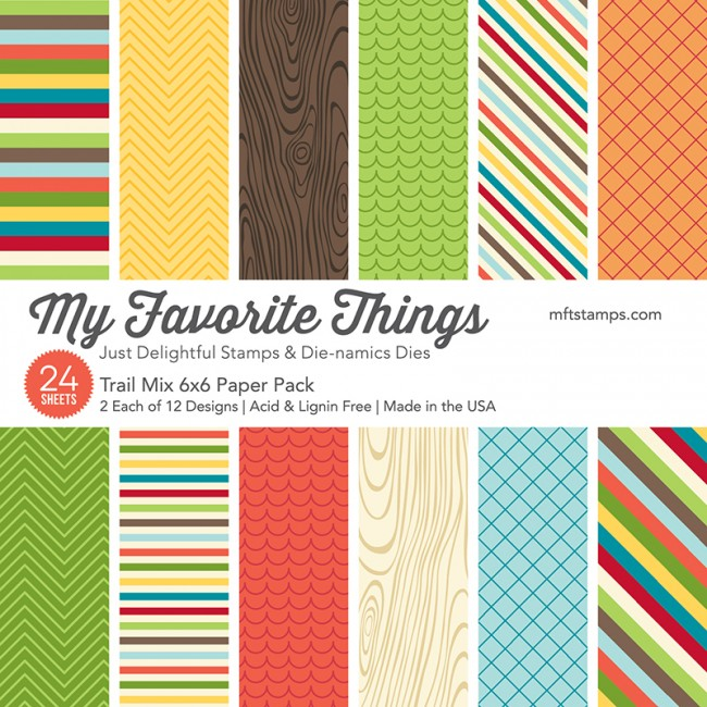 My Favorite Things - Trail Mix 6 x 6 Paper Pack