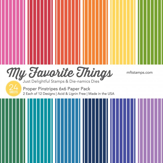My Favorite Things - Proper Pinstripes 6 x 6 Paper Pack