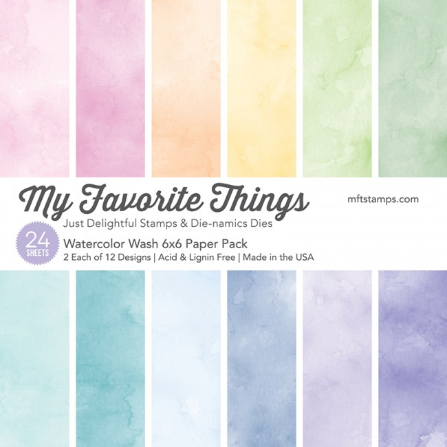 My Favorite Things - Watercolor Wash 6 x 6 Paper Pack