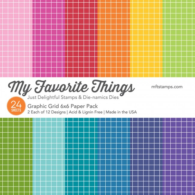 My Favorite Things - Graphic Grid Paper Pack