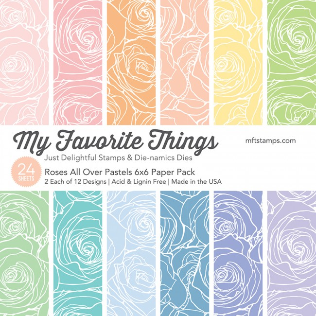 My Favorite Things - Roses All Over Pastels Paper Pack