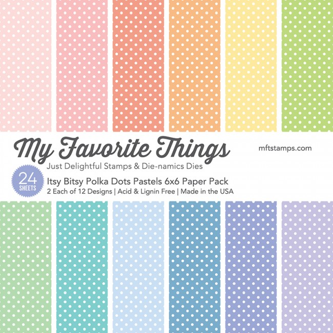 My Favorite Things - Itsy Bitsy Polka Dots Pastels Paper Pack