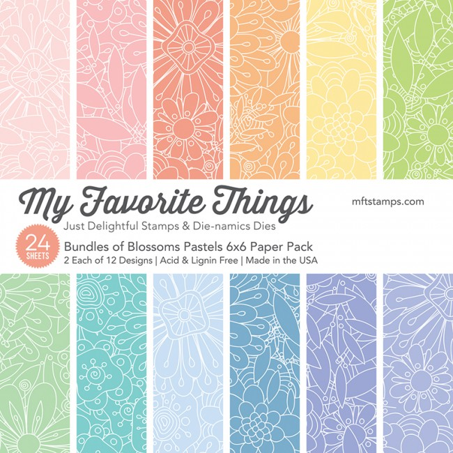 *NEW* - My Favorite Things - Bundles of Blossoms Pastels Paper Pack