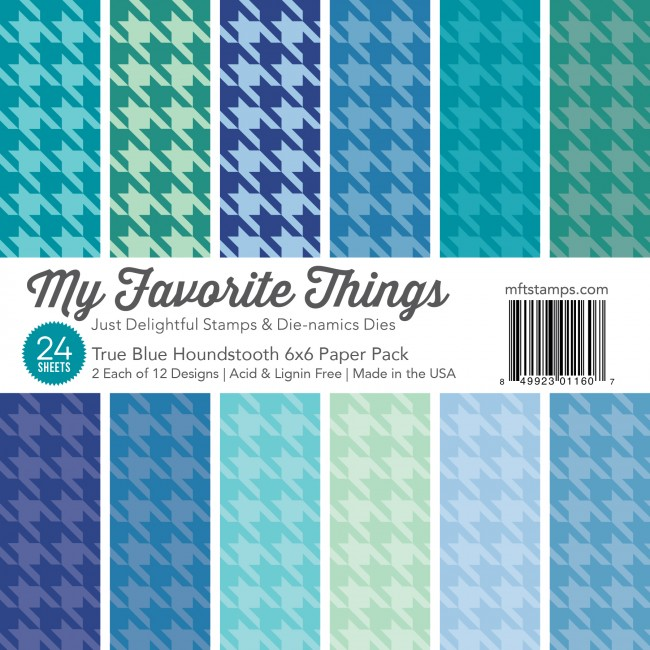 My Favorite Things - True Blue 6 x 6 Houndstooth Paper Pack