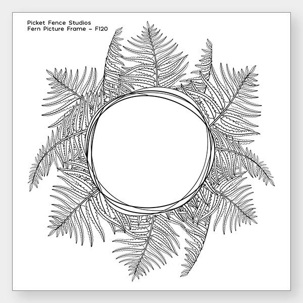 *NEW* - Picket Fence Studios - Fern Picture Frame
