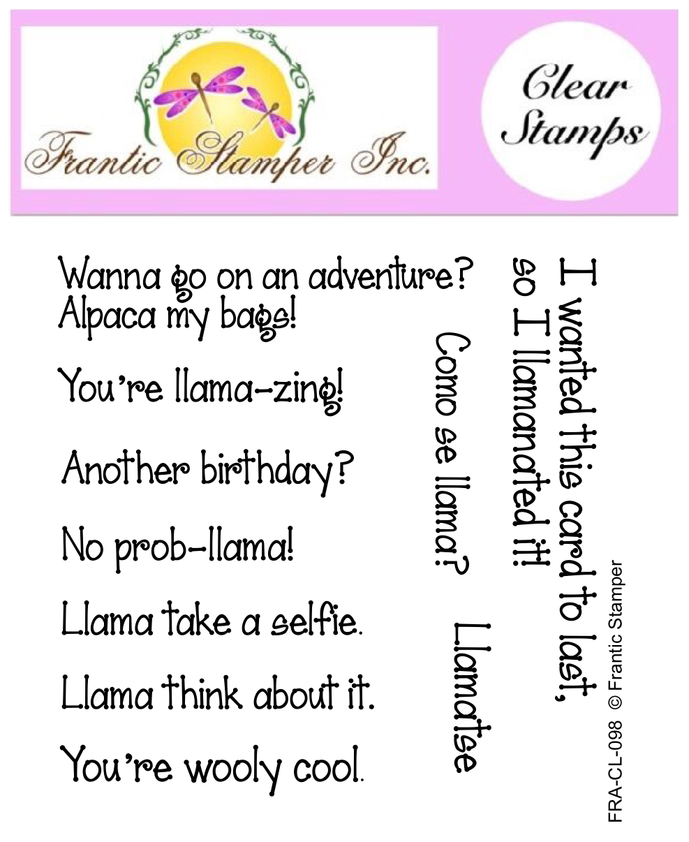 *NEW* - Frantic Stamper - Clear Stamp Set - Llama Sentiments