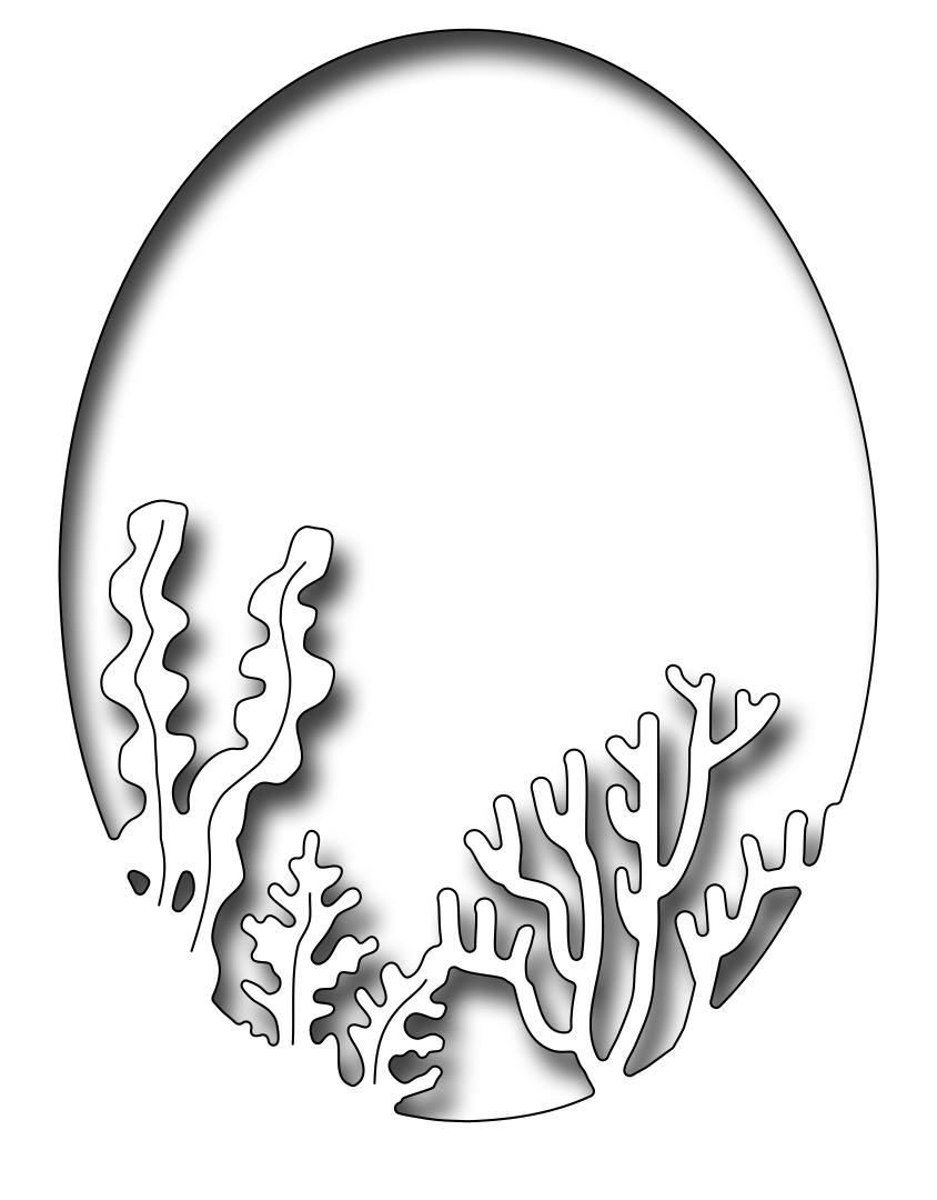 *NEW* - Frantic Stamper - Precision Die - Coral And Seaweed Oval