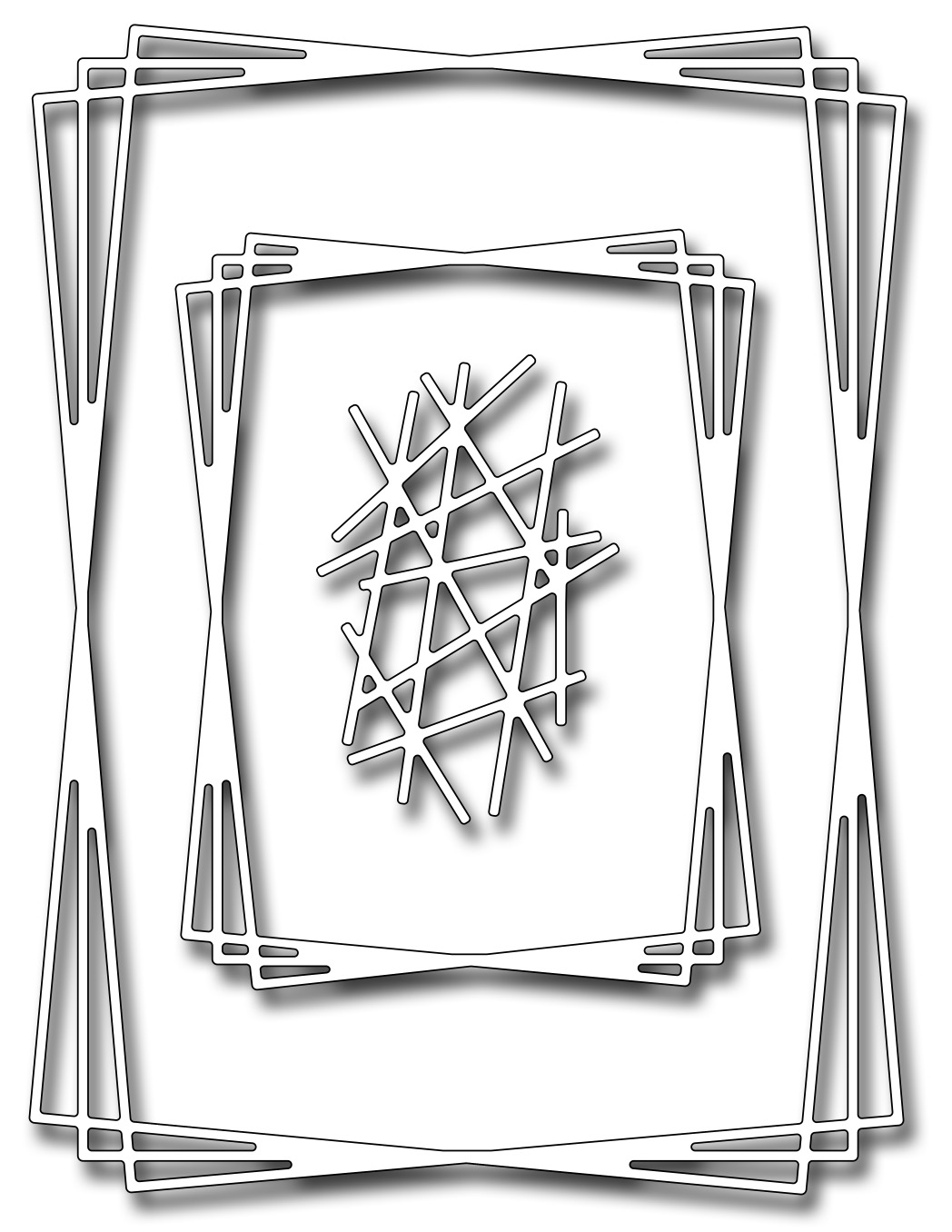 *NEW* - Frantic Stamper Precision Die - Rectangle Tangled Frames