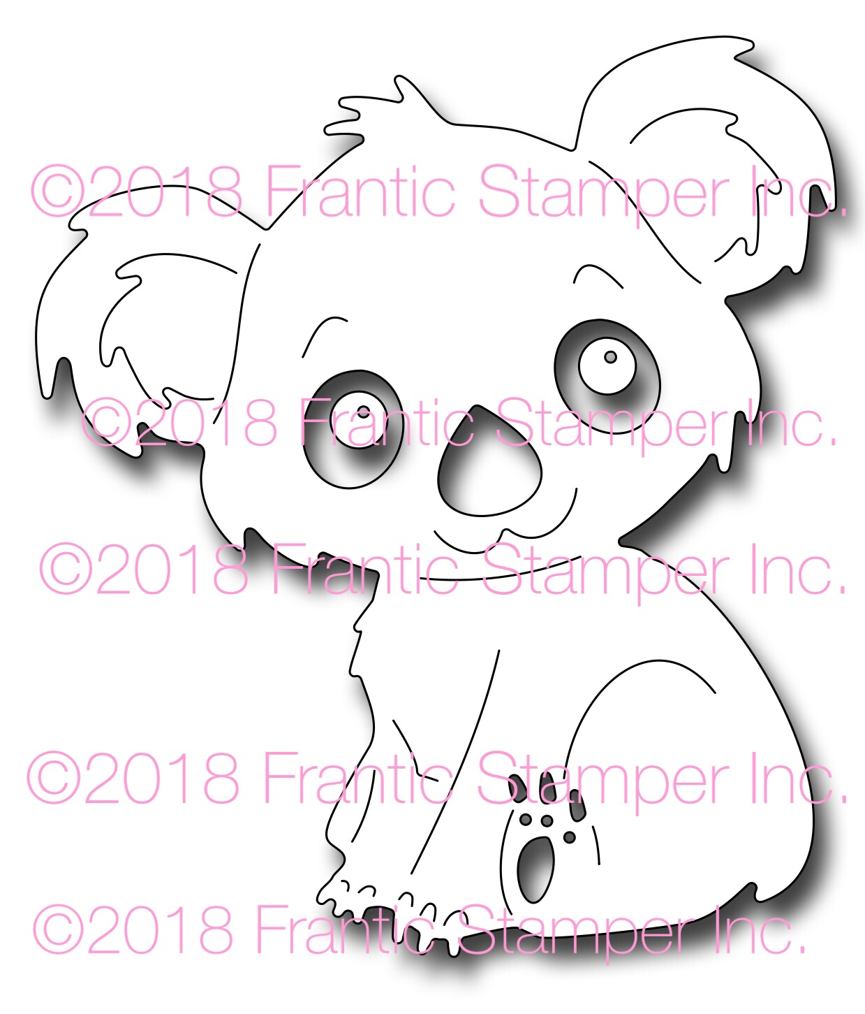 *NEW* - Frantic Stamper - Precision Die - Kiki the Koala