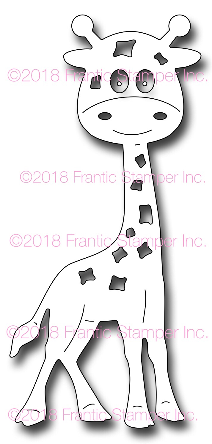 *NEW* - Frantic Stamper - Precision Die - Gladys the Giraffe