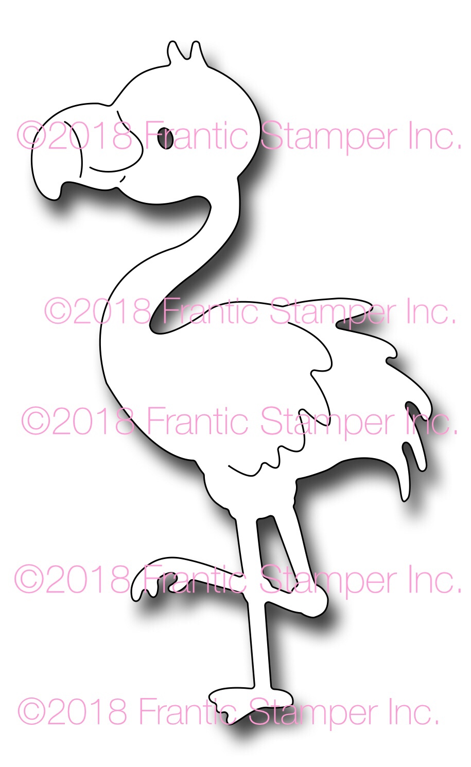 *NEW* - Frantic Stamper - Precision Die - Flo the Flamingo