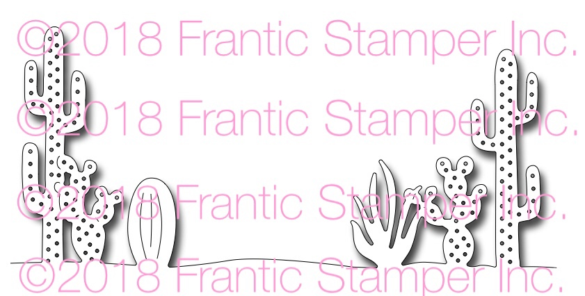 *NEW* - Frantic Stamper - Precision Die - Cactus Edger