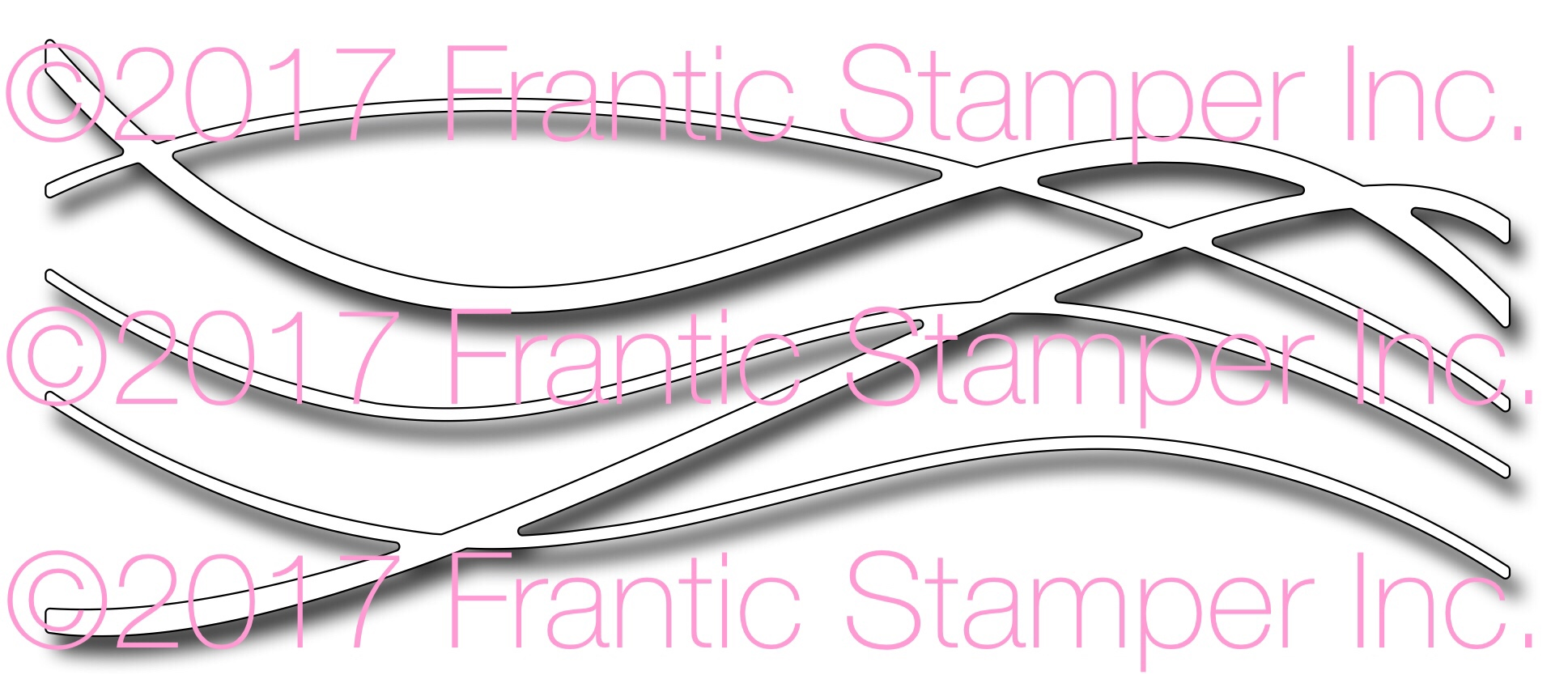 *NEW* - Frantic Stamper - Precision Die - Freeform Wave