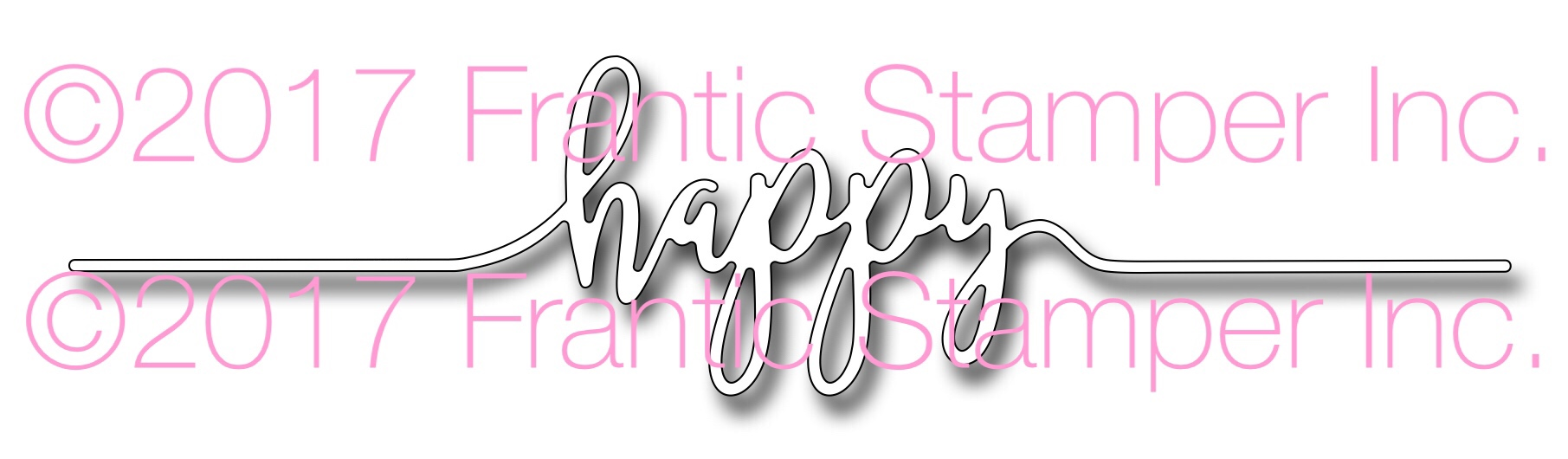 *NEW* - Frantic Stamper - Precision Die - Happy Line