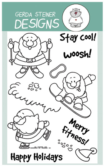 Gerda Steiner - Winter Sport Santa Clear Stamp Set