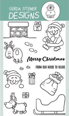 Gerda Steiner - Up On the Housetop 4x6 Clear Stamp Set