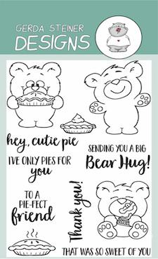 Gerda Steiner - More than Pie with Cute Bear and Pie 4x6 Clear Stamp Set