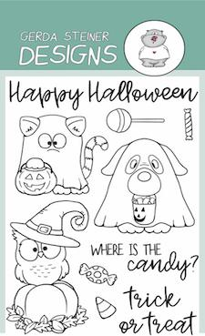 Gerda Steiner - Where is the Candy? 4x6 Clear Stamp Set