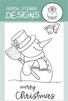 Gerda Steiner - Snowman with Birdie 3x4 Clear Stamp Set
