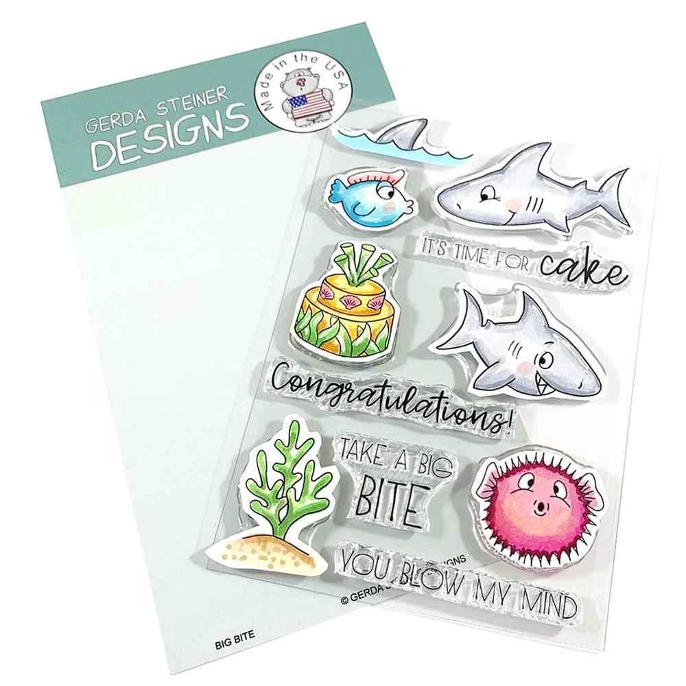 Gerda Steiner - Big Bite 4x6 Clear Stamp Set