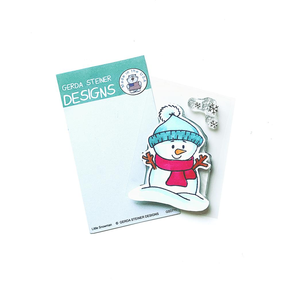 *NEW* - Gerda Steiner - Little Snowman 2x3 Clear Stamp Set