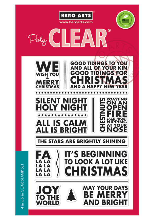 *NEW* - Hero Arts - Poster Christmas Carols