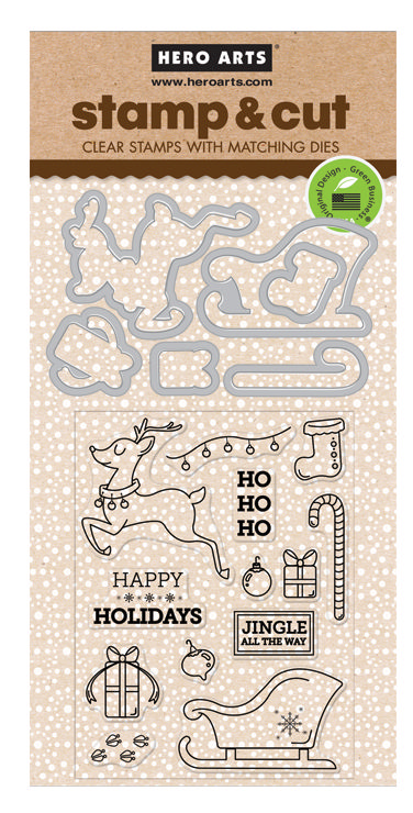 *NEW* - Hero Arts - Jingle All The Way Stamp & Cut