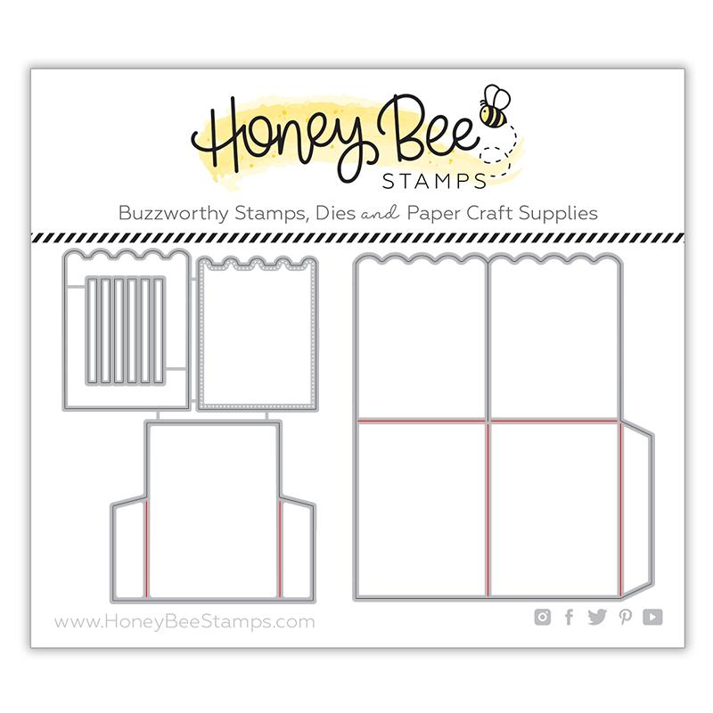 Honey Bee - A2 Surprise Box Card Base | Honey Cuts