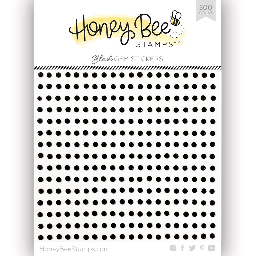 *NEW* - Honey Bee - Black Gem Stickers | 300 Count