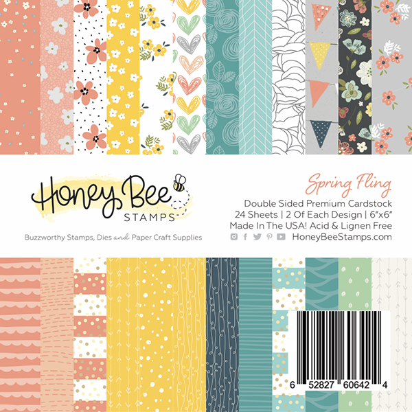 Honey Bee - Spring Fling | 6x6 Paper Pad | 24 Double Sided Sheets